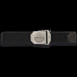 Cinturon negro hebilla metalica SWAT  33883NGR4022