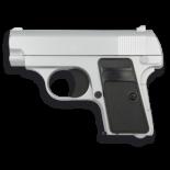 Pistola de airsoft GOLDEN EAGLE. Negra y Plata. Sistema de Muelle. Energia de 0,25 julios 35501