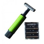 Maquinilla de afeitar Commando BCB. Mango giratorio. Verde oliva. 8 x 2 cm. 16 gramos