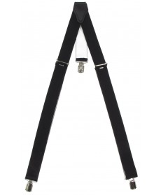 Tirantes negro con 3 clips metálicos MFH 22182A