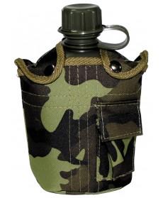 Botella de EE.UU. plástico, 1 l, M 95 camo MFH 33223J