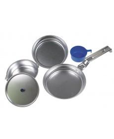 """Kit de cocina""""De lux"""", alu, pan, olla, tazón, 1 vaso MFH 33353"""