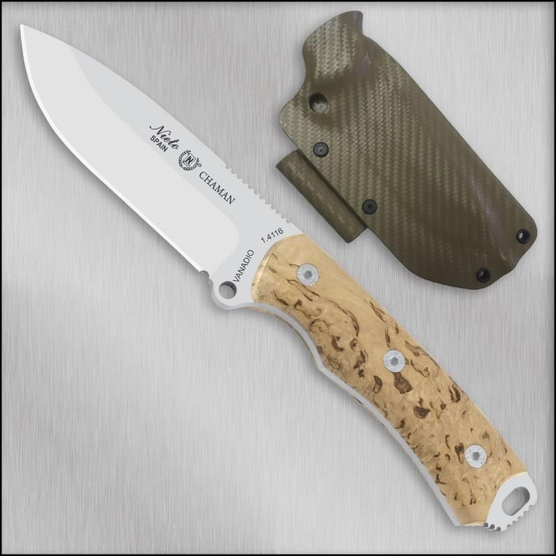 Cuchillo Miguel Nieto CHAMAN ABEDUL 140-A KYDEX
