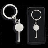 llave grilletes con chapa y llavero 9735